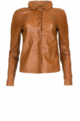STUDIO AR BY ARMA |  Leather blouse Dita | camel