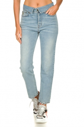 Lois Jeans |  Straight jeans with flipped waist Wendy L34 | blue