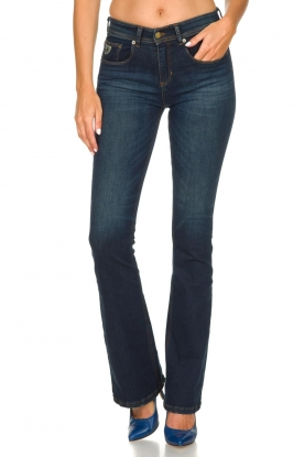 Lois Jeans |  Flared jeans Melrose L34 - Marconi dark wash | blue
