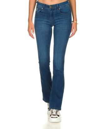 Lois Jeans |  L32 Flared jeans Melrose - Leia teal wash | blue
