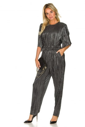 IRO |  Pleated jumpsuit with lurex Chimbotte | black