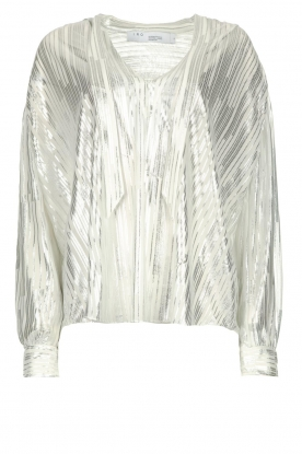 IRO |  Blouse with lurex Hathi | white
