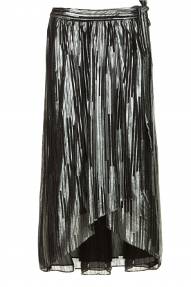 IRO | Skirt with lurex stripes Dori | metallic black