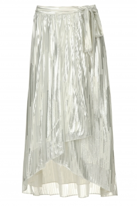 IRO | Skirt with lurex stripes Dori | metallic white