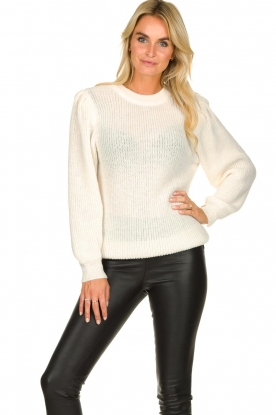 IRO | Knitted sweater with sleeve details Hobson | natural