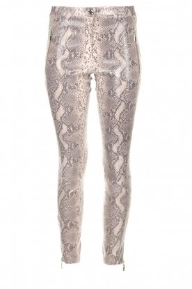 Arma |  Leather pants with snake print Cadiz | animal print