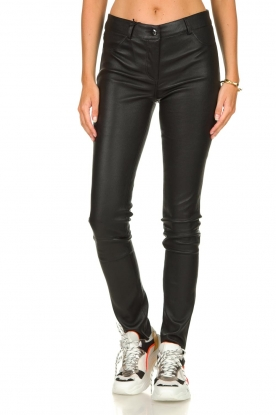 Arma |  Leather stretch pants Brandice | black
