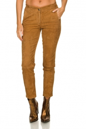 Arma | Suede pants Chinita | brown