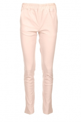 Est-Seven |  Leather stretch pants Butter | nude