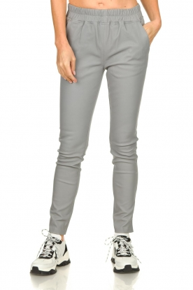 Est-Seven | Leather legging Amber | grey
