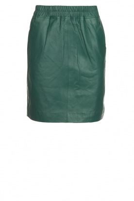 Est-Seven | Leather skirt Mylenna | green