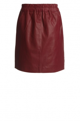 Est-Seven | Leather skirt Mylenna | burgundy