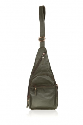 Est-Seven |  Leather shoulder bag Mirella | green