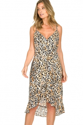 Aaiko |  Leopard printed dress Annika | natural