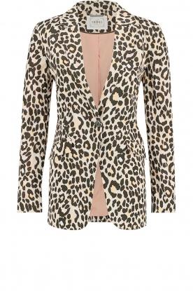 Aaiko |  Leopard printed blazer Adeline | natural