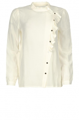 ba&sh |  Ruffle blouse Real | white