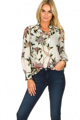 ba&sh |  Floral blouse Pauline | natural