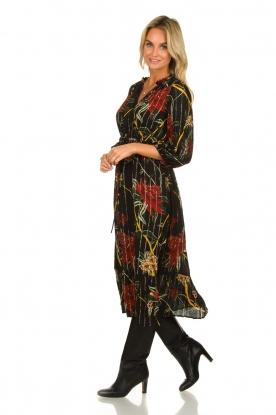 ba&sh    Floral midi dress Patty   black