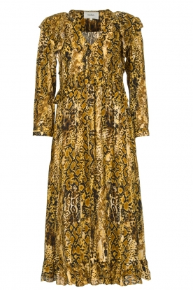 ba&sh |  Snake print midi dress Sahara | animal print