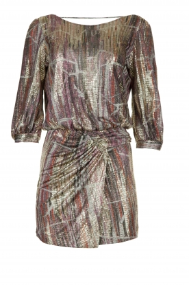 ba&sh |  Metallic dress with open back Salina | metallic