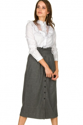 ba&sh |  Skirt with buttons Cohle | grey