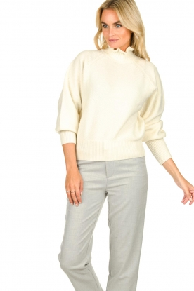 ba&sh |  Turtleneck sweater with balloon sleeves Raph | wit