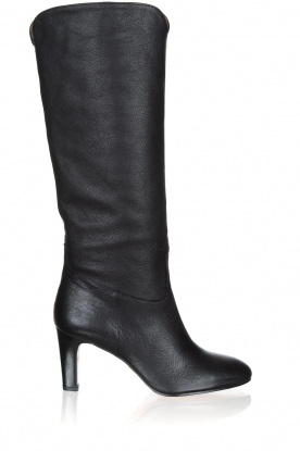 ba&sh |  Leather heeled boots Catalina | black