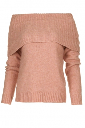 Knit-ted |  Knitted sweater with wide turtleneck Blanche | pink