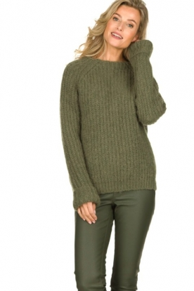Knit-ted | Knitted sweater Bijou | groen