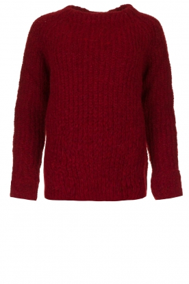 Knit-ted | Knitted sweater Bijou | red