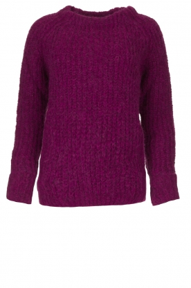 Knit-ted | Knitted sweater Bijou | purple