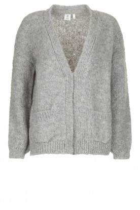 Knit-ted |  Knitted cardigan Bernelle | grey