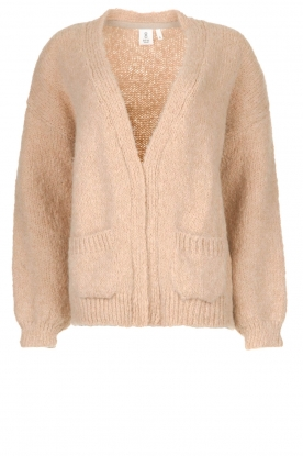 Knit-ted | Knitted cardigan Bernelle | natural
