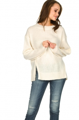 Knit-ted | Trui met lurex Sparkle | wit