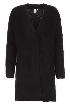 Knit-ted | Knitted cardigan Basile | black