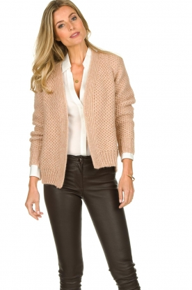 Knit-ted | Knitted cardigan Baila | natural