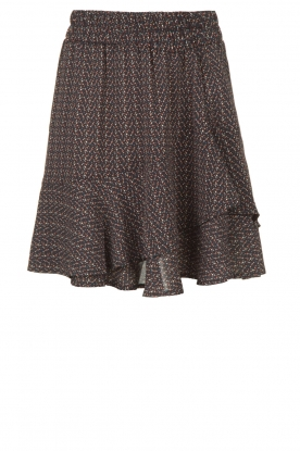 Knit-ted |  Skirt with dots print Charly | blue