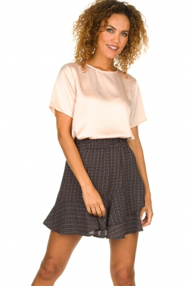 Knit-ted | Rok met stippenprint Charly | blauw