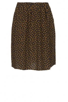Knit-ted |  Printed skirt Carlijn | black