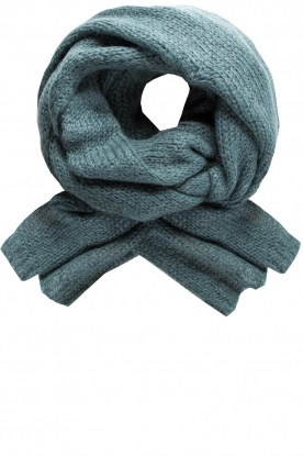 Knit-ted | Knitted scarf Bente | blue