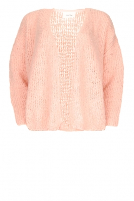 American Vintage |  Heavy knitted cardigan Boolder | pink
