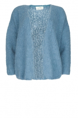 American Vintage |  Heavy knitted cardigan Boolder | blue