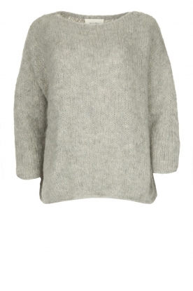 American Vintage |  Heavy knitted sweater Boolder | grey