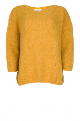 American Vintage |  Heavy knitted sweater Boolder | ochre yellow