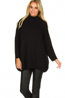 American Vintage | Woolen turtle neck sweater Boolder | black