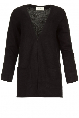 American Vintage |  Cardigan with open pockets Gogojet | black