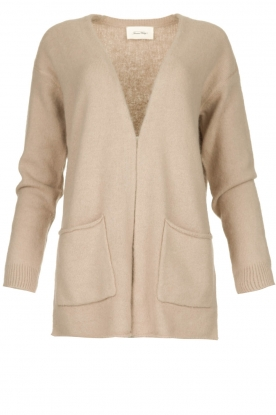 American Vintage | Cardigan with open pockets Gogojet | beige