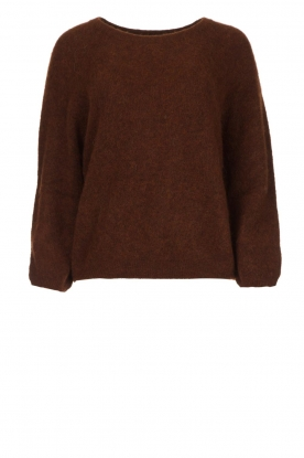American Vintage |  Oversized sweater Woxilen | brown