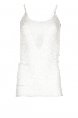 American Vintage |  Sleeveless cotton top Massachusetts | grey
