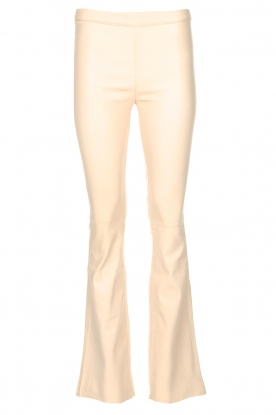 Est-Seven |  Flared leather stretch pants Meredith | nude